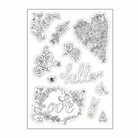 Sizzix - In Bloom Collection - Coloring Stickers