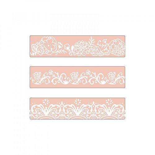 Sizzix - Textured Impressions - Embossing Folders - Border Set
