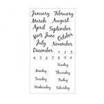 Sizzix - Clear Acrylic Stamps - Calendar