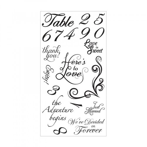 Sizzix - Clear Acrylic Stamps - Sentiments and Table Numbers
