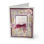 Sizzix - Thinlits Die - Floral Label
