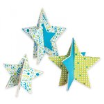 Sizzix - Where Women Cook Collection - Bigz Die - Stars, 3-D