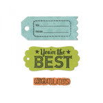 Sizzix - Framelits Die with Clear Acrylic Stamp Set - Tag Sentiments