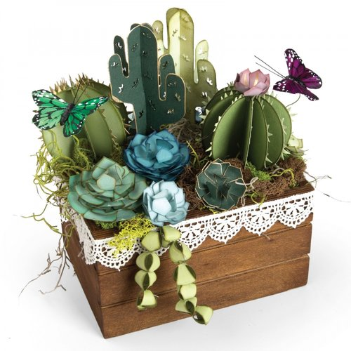 Sizzix - Thinlits Die - Succulents, 2-D and 3-D