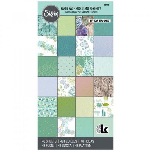 Sizzix - 6 x 12 Paper Pad - Succulent Serenity