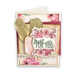 Sizzix - Framelits Die with Clear Acrylic Stamp Set - Just for You
