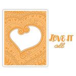 Sizzix - Impresslits Embossing Folder - Bohemian Heart