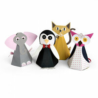 Sizzix - Tim Holtz - Alterations Collection - Bigz Pro Die - Box, Cat Elephant Owl and Penguin
