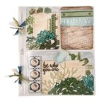 Sizzix - Succulent Serenity Collection - Thinlits Die - Journaling Cards
