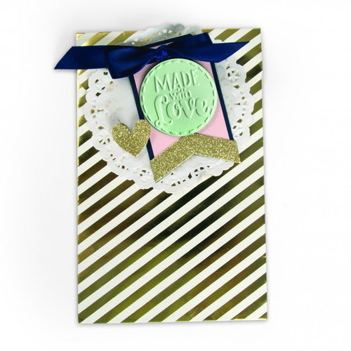 Sizzix - Bigz Die and Textured Impressions - Tag, Made with Love