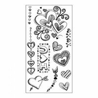Sizzix - Clear Acrylic Stamps - Doodle Love
