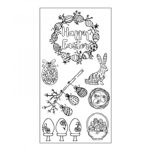 Sizzix - Clear Acrylic Stamps - Eggstatic Easter
