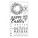 Sizzix - Clear Acrylic Stamps - Happy Easter