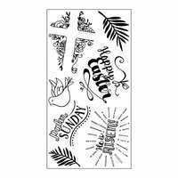 Sizzix - Clear Acrylic Stamps - He is Risen
