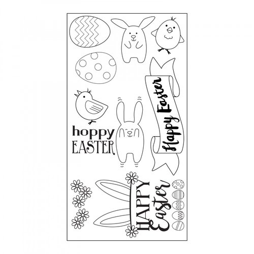 Sizzix - Clear Acrylic Stamps - Hoppy Easter