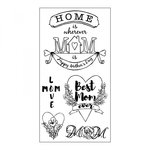 Sizzix - Clear Acrylic Stamps - Best Mom Ever