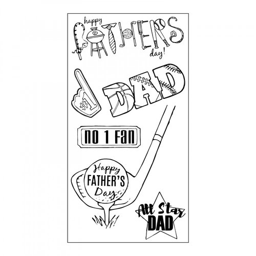 Sizzix - Clear Acrylic Stamps - All Star Dad