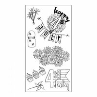 Sizzix - Clear Acrylic Stamps - Fireworks and Sparklers