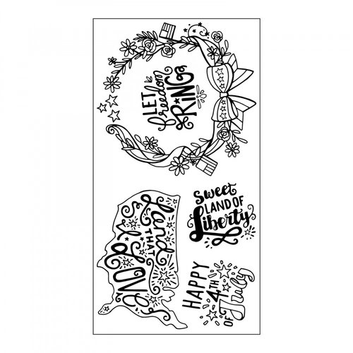 Sizzix - Interchangeable Clear Acrylic Stamps - Land That I Love