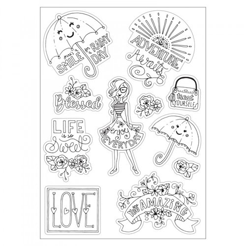 Sizzix - Coloring Stickers - Enjoy Every Day