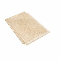 Sizzix - Accessory - Cutting Pads, Standard, 1 Pair - Clear with Gold Glitter