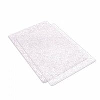 Sizzix - Accessory - Cutting Pads, Standard, 1 Pair - Clear with Silver Glitter
