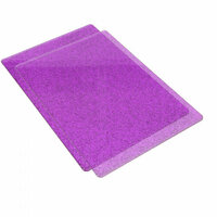 Sizzix - Accessory - Cutting Pads, Standard, 1 Pair - Purple with Silver Glitter
