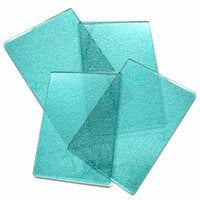 Sizzix - Cutting Pads - Standard - 2 Pair, 4 Plates - Ocean Blue with Glitter