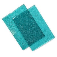 Sizzix - Cutting Pads - Standard - 1 Pair - Ocean Blue with Glitter
