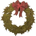 Sizzix - Tim Holtz - Alterations Collection - Bigz Die with Texture Fades - Layered Holiday Wreath