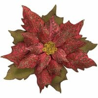 Sizzix - Tim Holtz - Alterations Collection - Bigz Die with Texture Fades - Layered Tattered Poinsettia