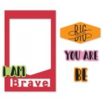 Sizzix - Picture This Collection - Framelits Die with Clear Acrylic Stamp Set - Photo Frame, I Am Phrases