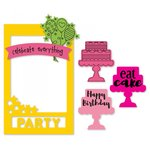 Sizzix - Picture This Collection - Framelits Die with Clear Acrylic Stamp Set - Photo Frame, Celebrate
