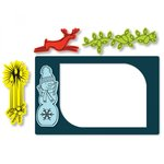 Sizzix - Picture This Collection - Framelits Die with Clear Acrylic Stamp Set - Photo Frame, Seasonal Borders