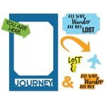 Sizzix - Picture This Collection - Framelits Die with Clear Acrylic Stamp Set - Photo Frame, Travel