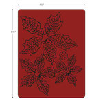 Sizzix - Tim Holtz - Alterations Collection - Texture Fades - Embossing Folder - Tattered Poinsettia