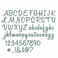 Sizzix - Tim Holtz - Alterations Collection - Thinlits Die - Alphanumeric, Script