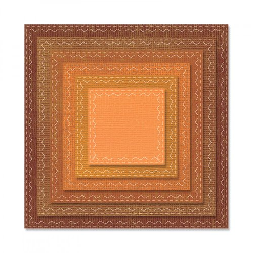 Sizzix - Tim Holtz - Alterations Collection - Framelits Die - Stitched Squares