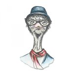 Sizzix - Tim Holtz - Alterations Collection - Framelits Dies - Hipster Ostrich