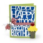 Sizzix - Thinlits Die - Happy Birthday