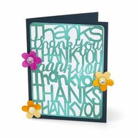 Sizzix - Thinlits Die - Thank You