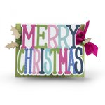 Sizzix - Framelits Die - Card, Merry Christmas Drop-ins