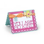 Sizzix - Framelits Die - Card, Scallop with Thanks Sentiments
