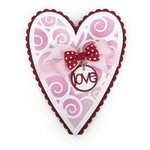 Sizzix - Framelits Die with Clear Acrylic Stamp Set - Scallop Heart Fold-its
