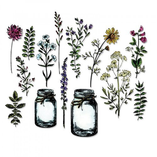 Sizzix - Tim Holtz - Alterations Collection - Framelits Dies - Flower Jar