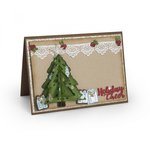 Sizzix - Tis the Season Collection - Thinlits Die - Christmas Tree, Flip and Fold
