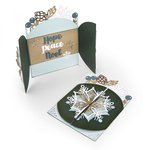 Sizzix - Tis the Season Collection - Thinlits Die - Snowflake Card, Flip and Fold