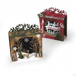 Sizzix - Tis the Season Collection - Thinlits Die - Holiday Shadowbox