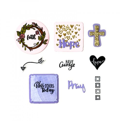 Sizzix - Planner Pages and More Collection - Framelits Die with Clear Acrylic Stamp Set - Grace for Today Planner