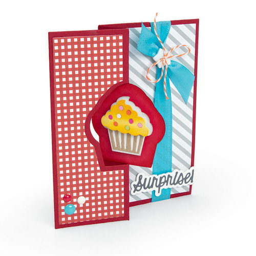 Sizzix - More Cards That Wow Collection - Framelits Die - Cupcake Flip-its Insert